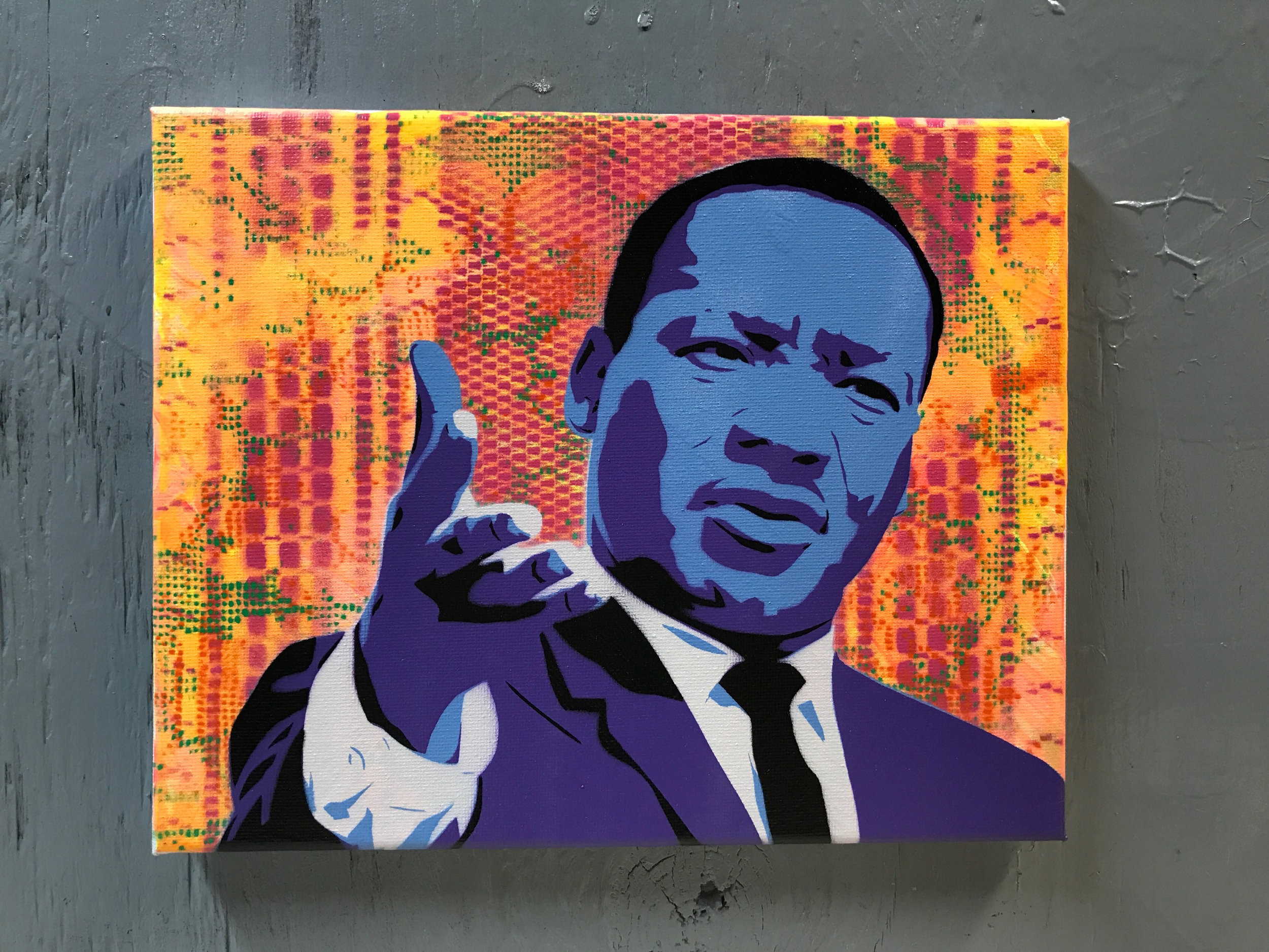 MLK Painting on Stretched Canvas