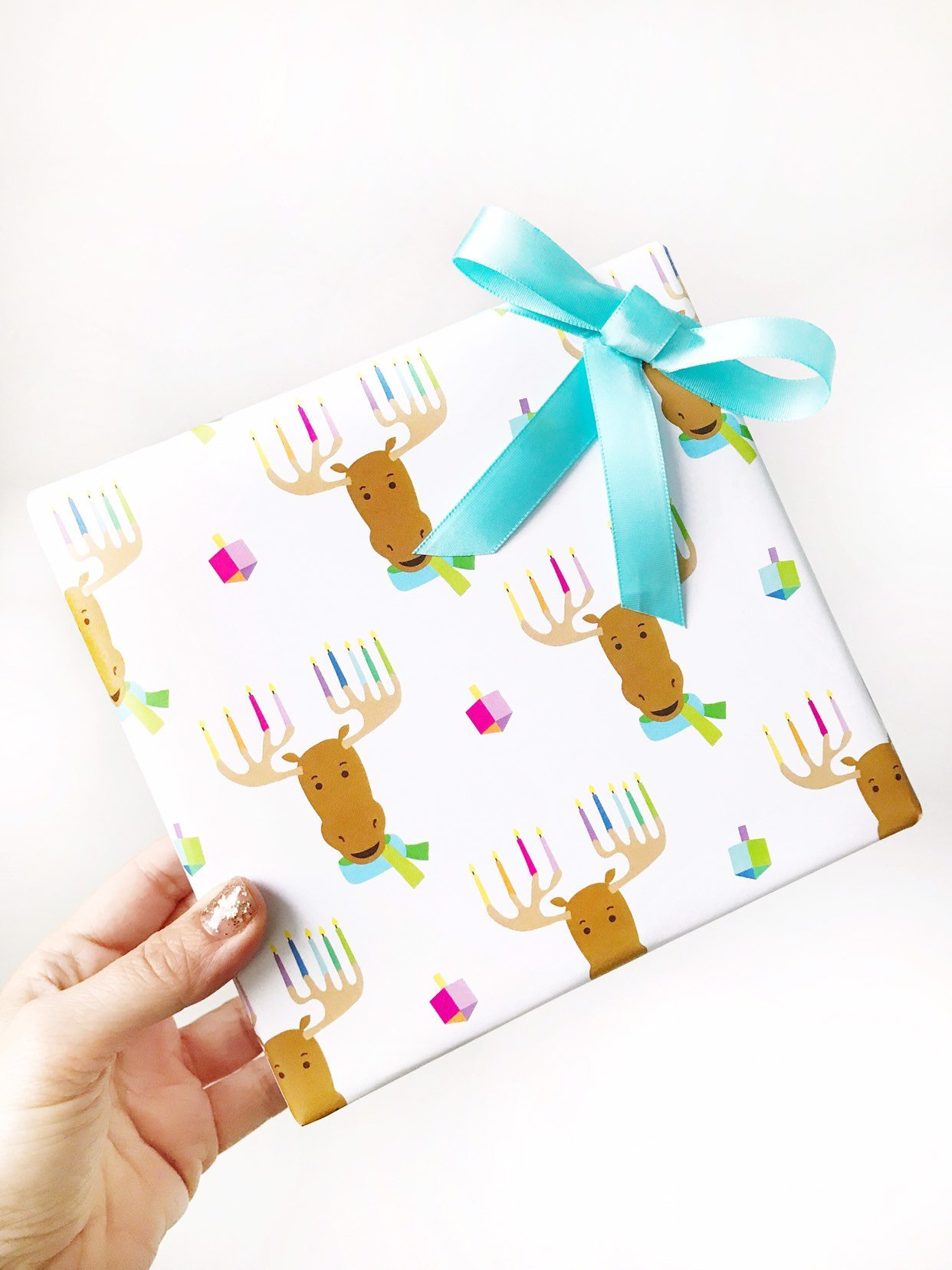 Menorah Moose Wrap