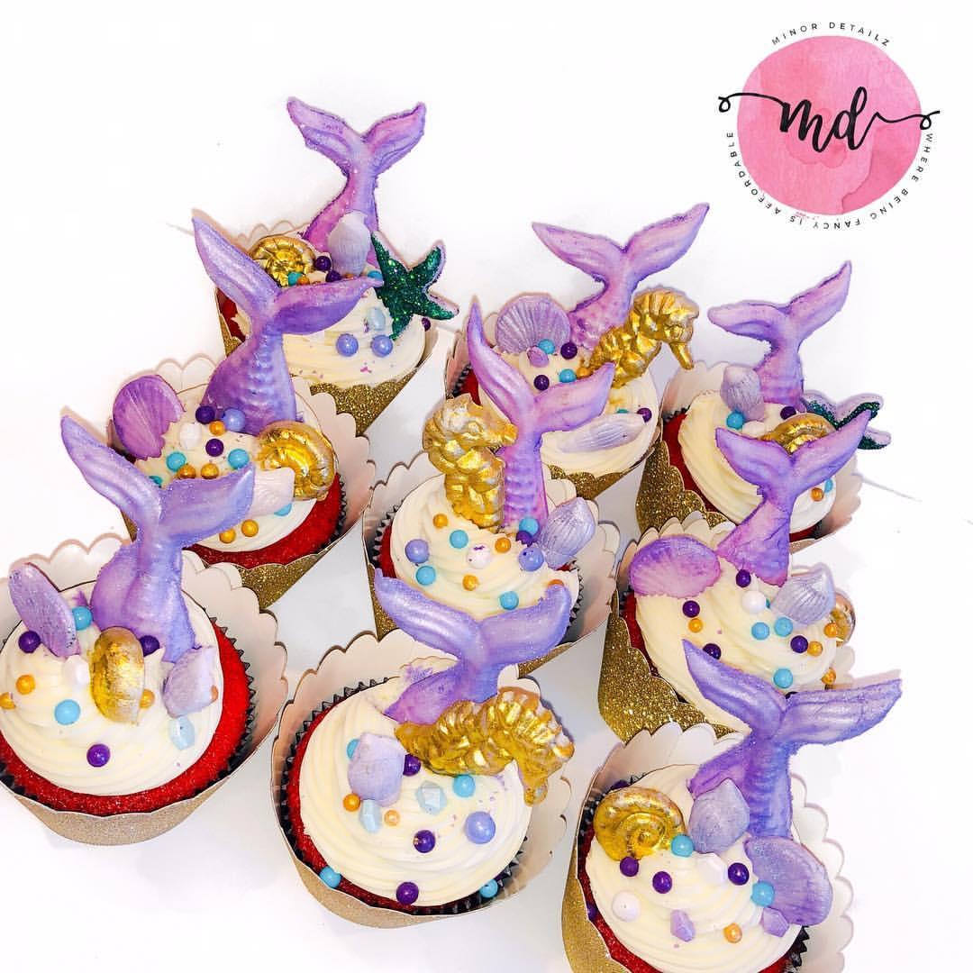 Mermaid Cupcakes | Mermaid Birthday Party