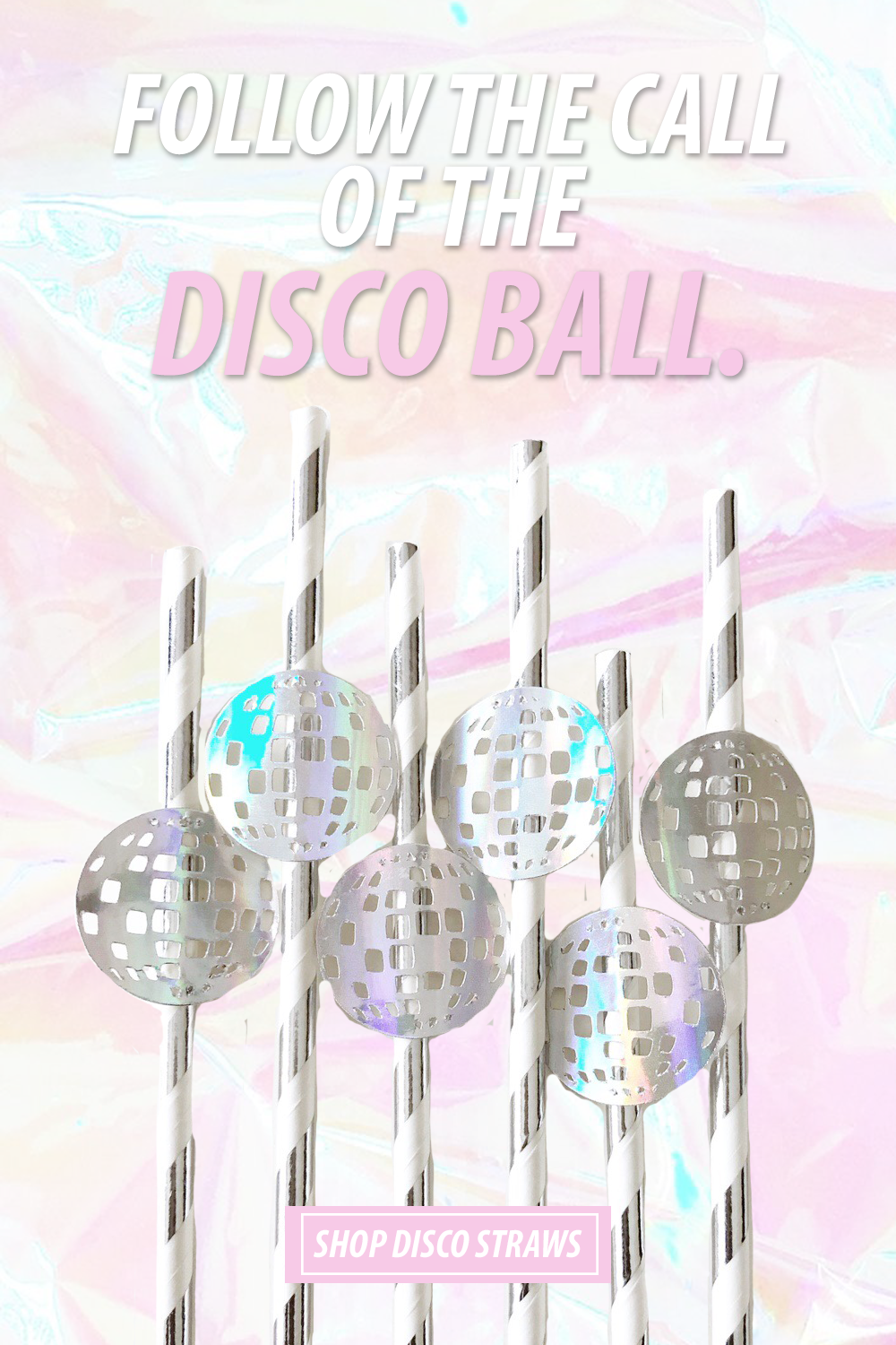 Announce Divinely Disco Ball Straws