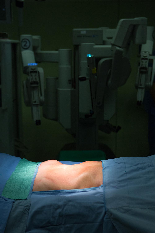 """Robot """"Da Vinci"""", at the Morgani-Pierantoni Hospital in Forlì."""