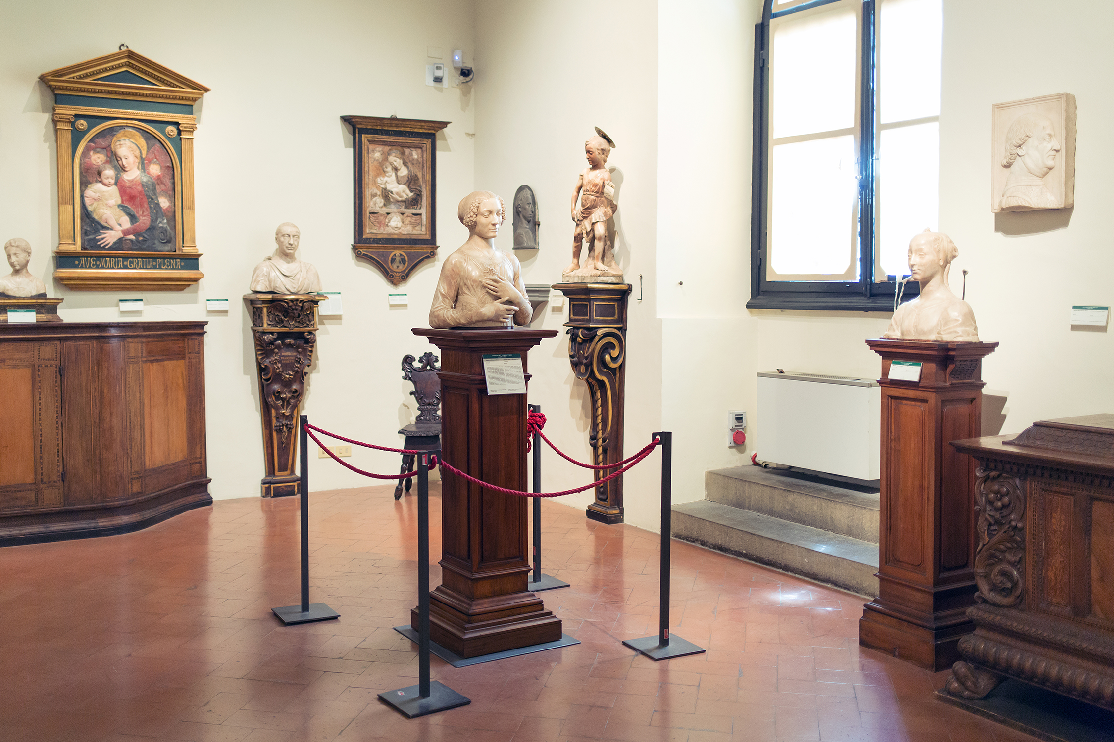 Salone del Verrocchio and sculptures of the second half of the fifteenth century, Bargello National Museum, Florence.