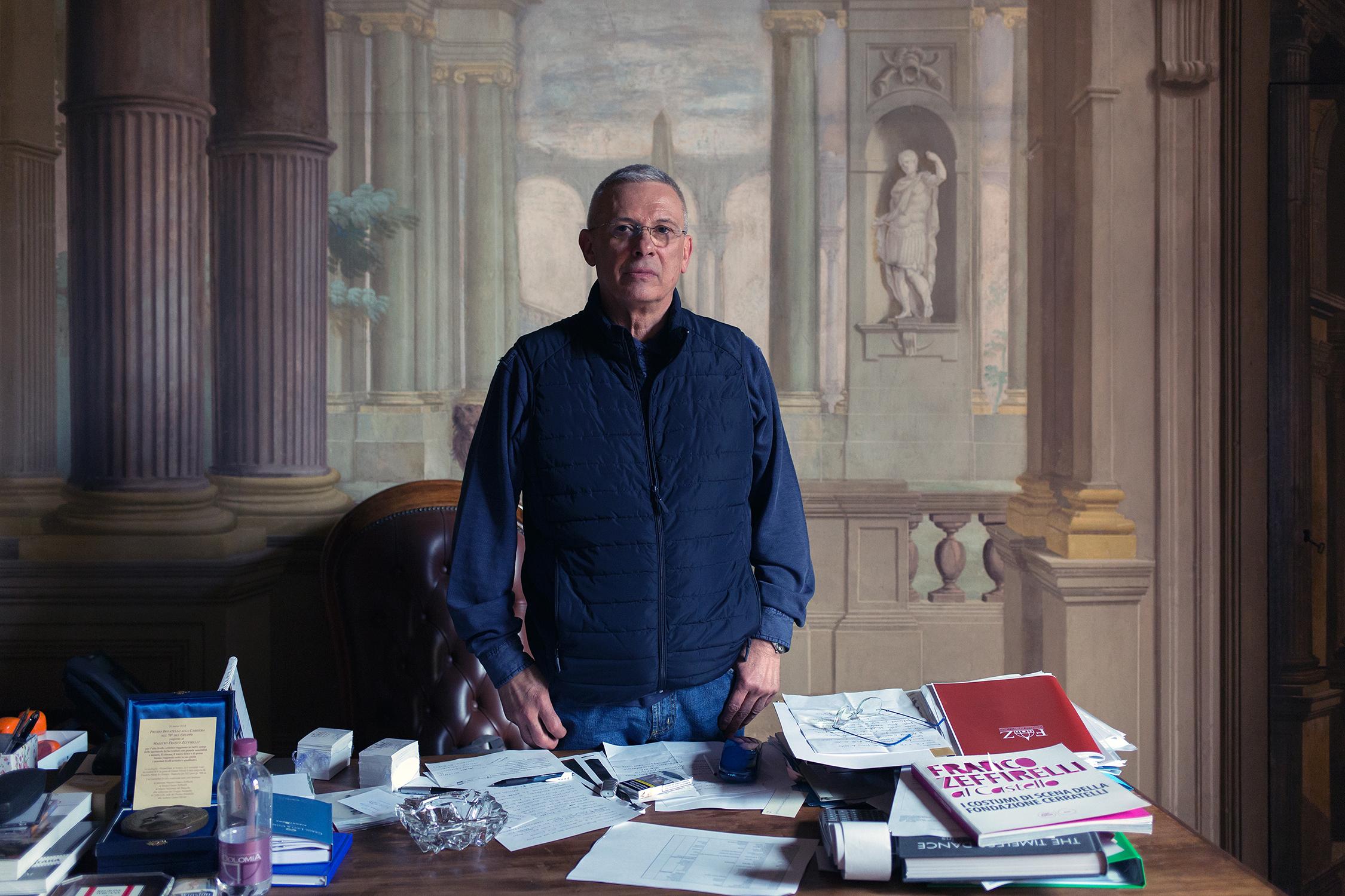 Pippo Zeffirelli, figlio adottivo di Franco Zeffirelli e vice Presidente della Fondazione Zeffirelli (che gestisce il Museo omonimo), nel suo studio a Firenze.