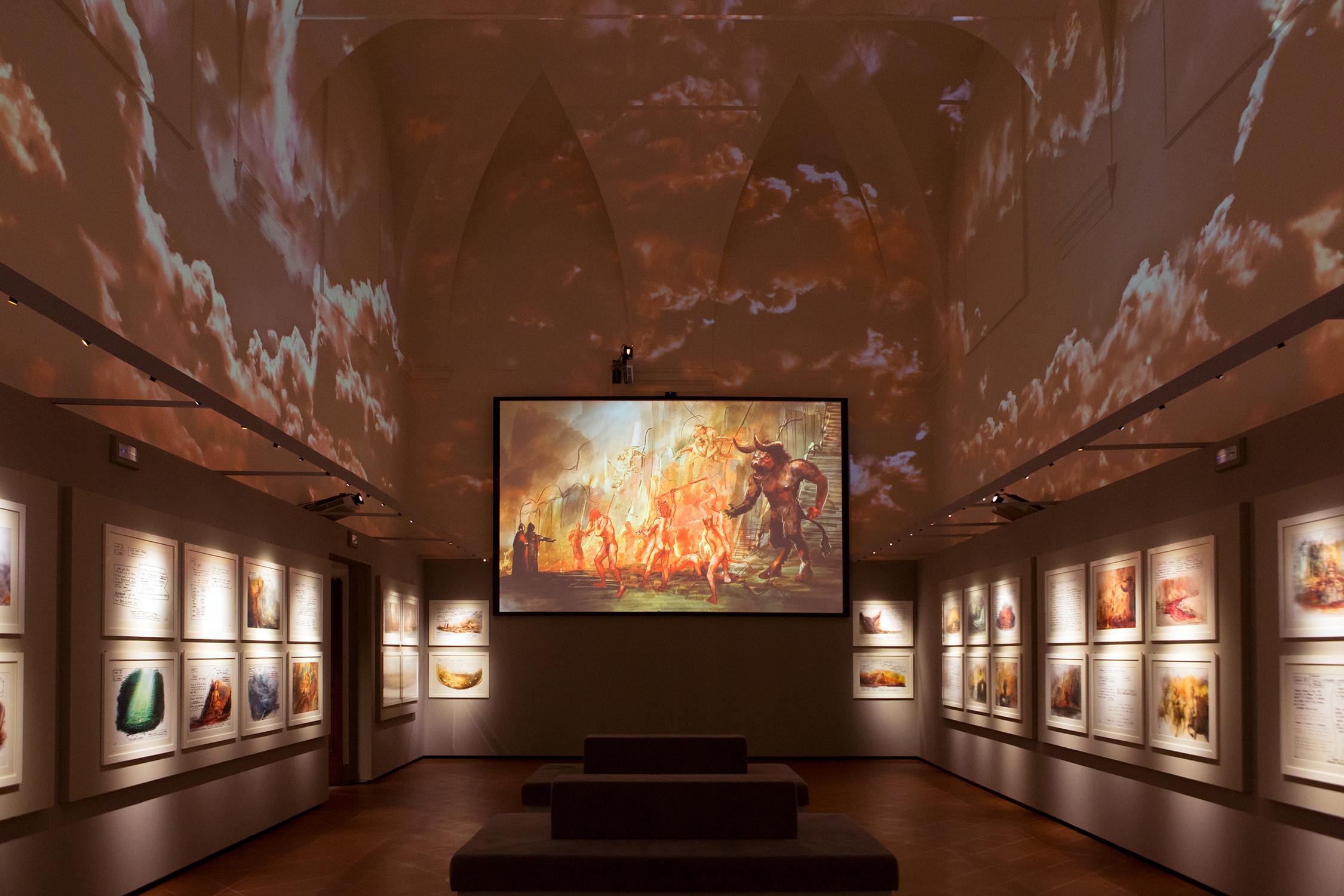 Museo Zeffirelli, Sala dell'Inferno, a Firenze.