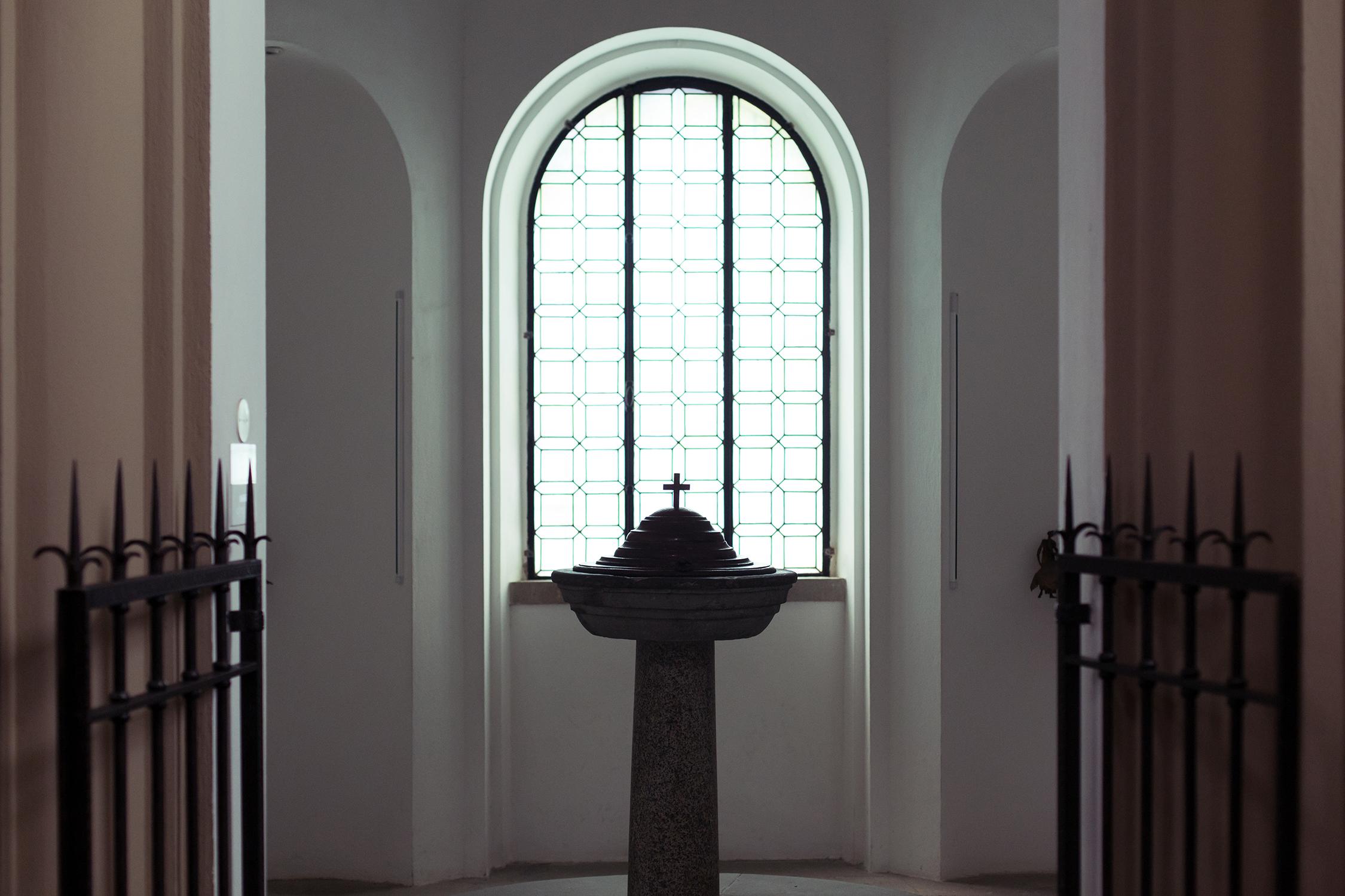 Battistero della Chiesa di Santa Croce, a Vinci (FI).