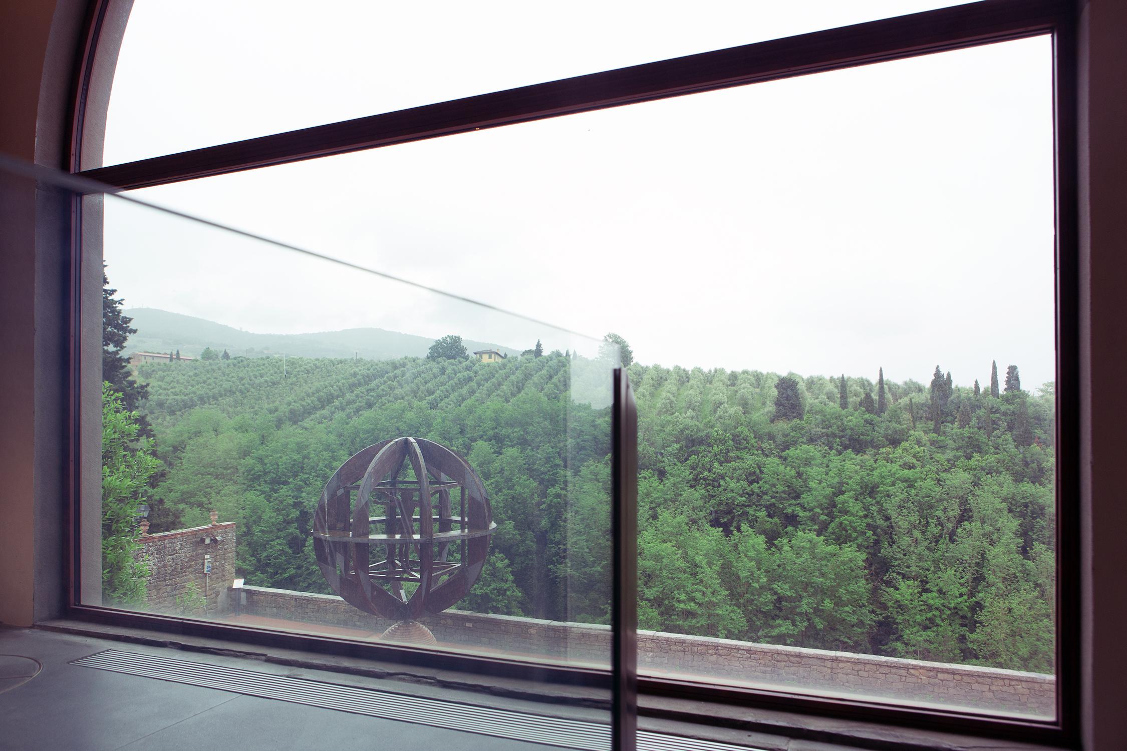 Vista sull'esterno del Museo leonardiano di Vinci (FI).