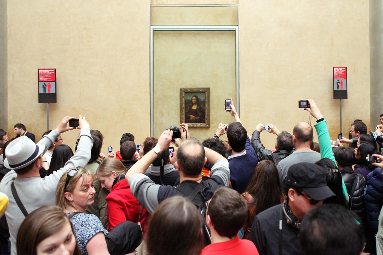 La Gioconda, esposta a Museo del Louvre di Parigi.