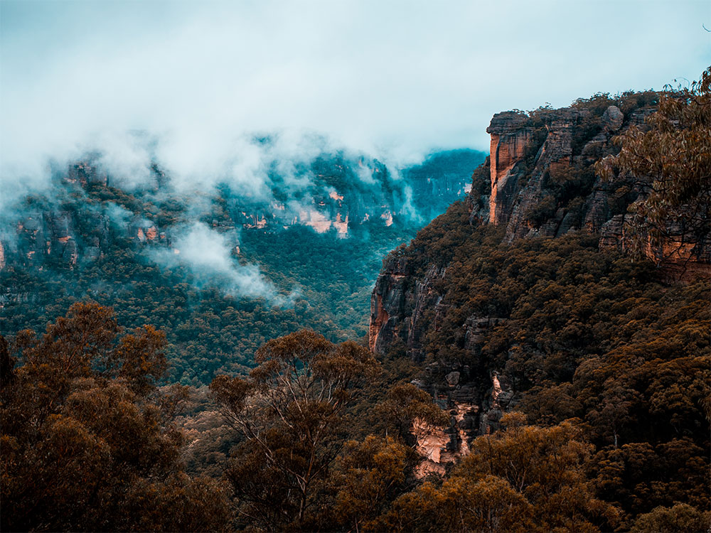 Looking over the back of Mystery Mountain in Newnes