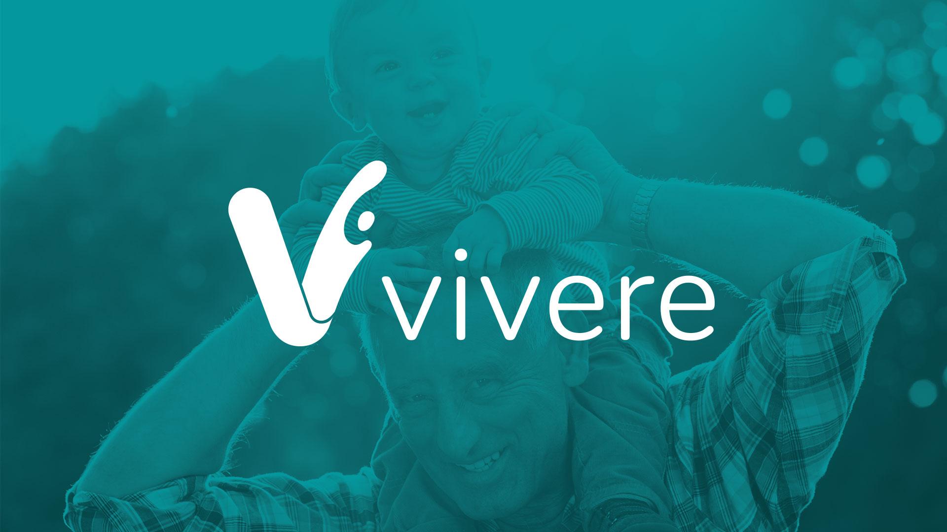 VIvere Logo, logo design manly. White version