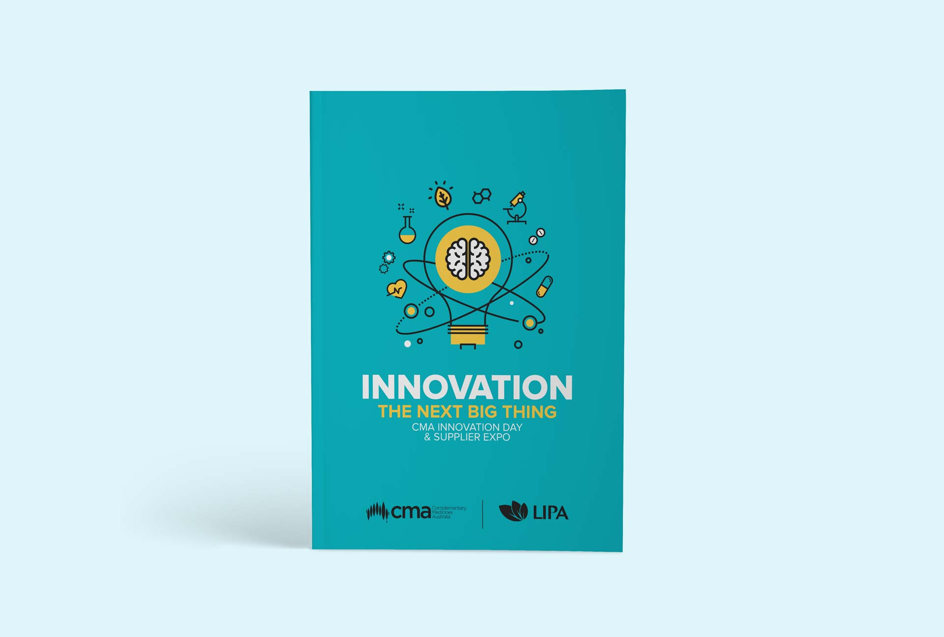 Event branding design - CMA booklet