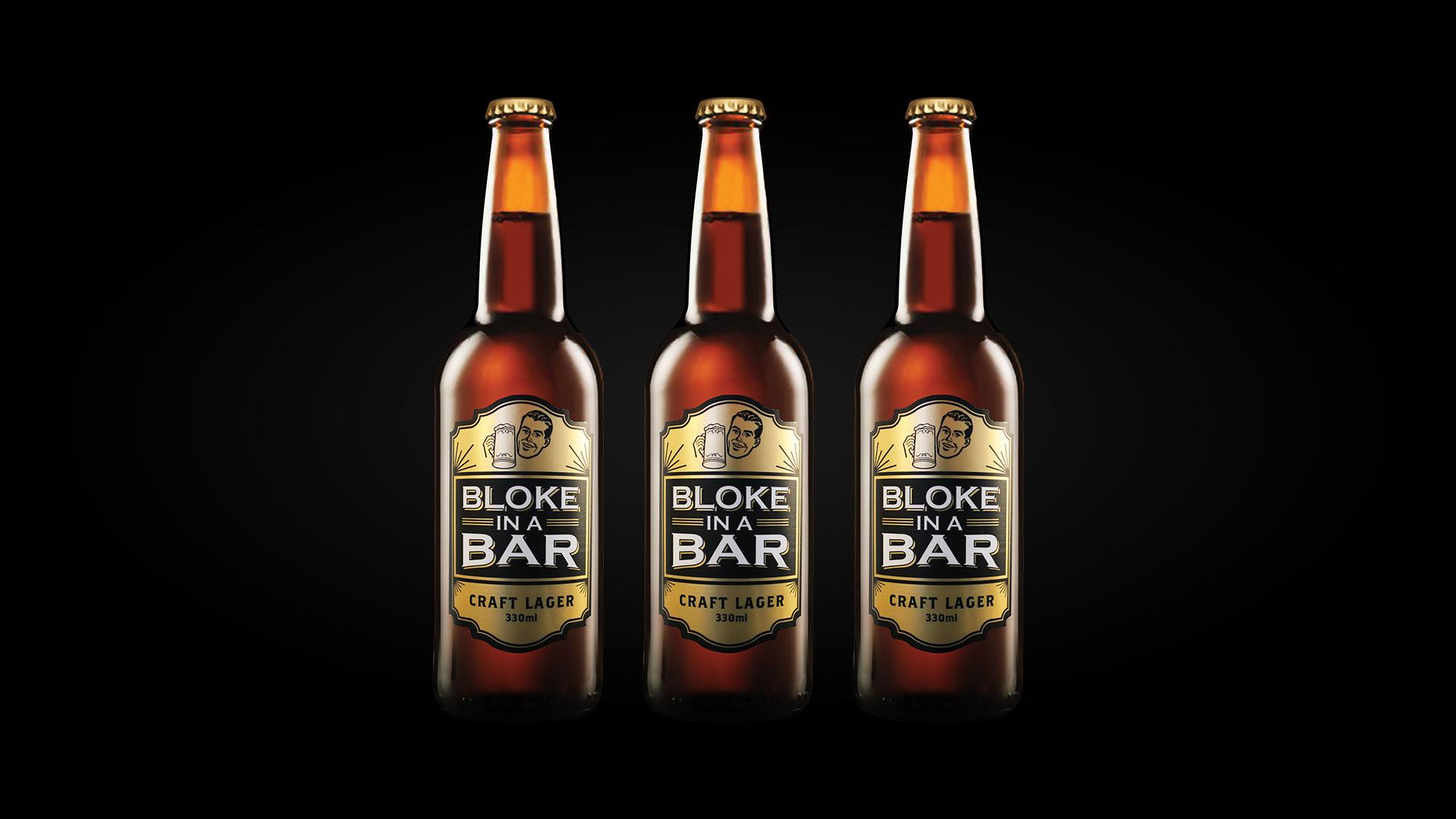 Bloke In A Bar beer bottle design