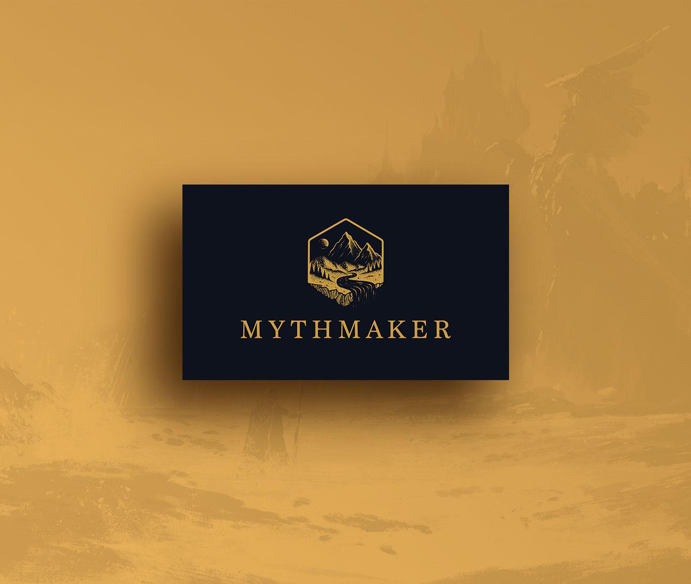 Mythmaker light logo design