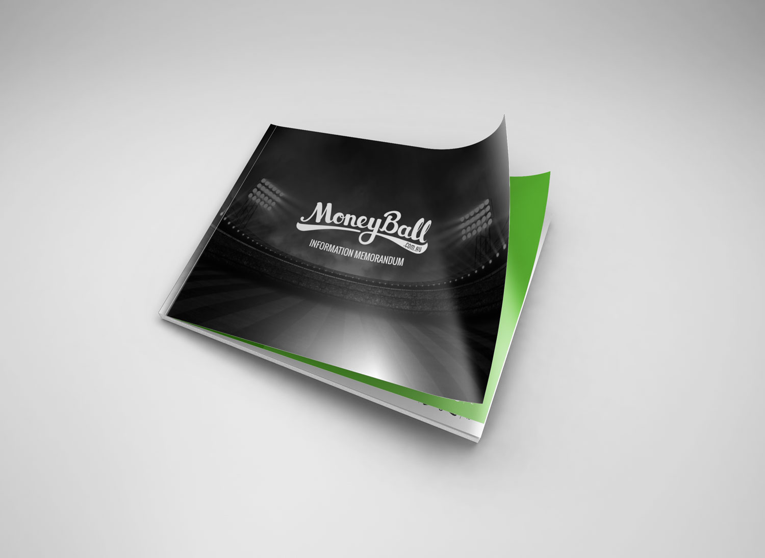 Moneyball investment document cover design