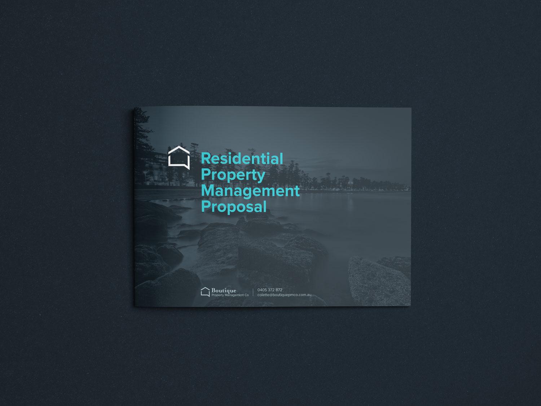 Boutique Property Management Co Business proposal design cover