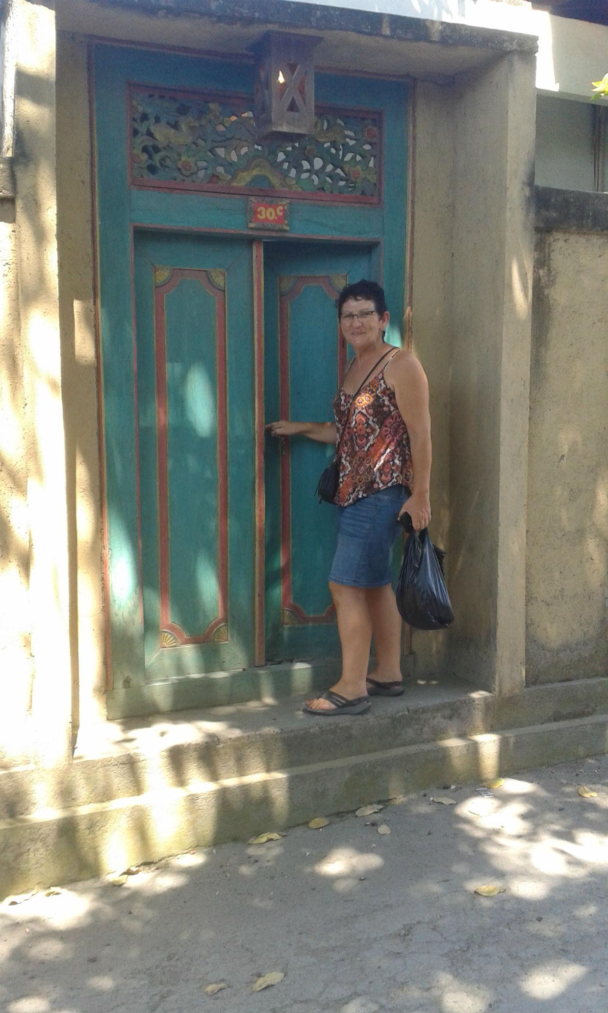 Front door of our joglo in Sanur