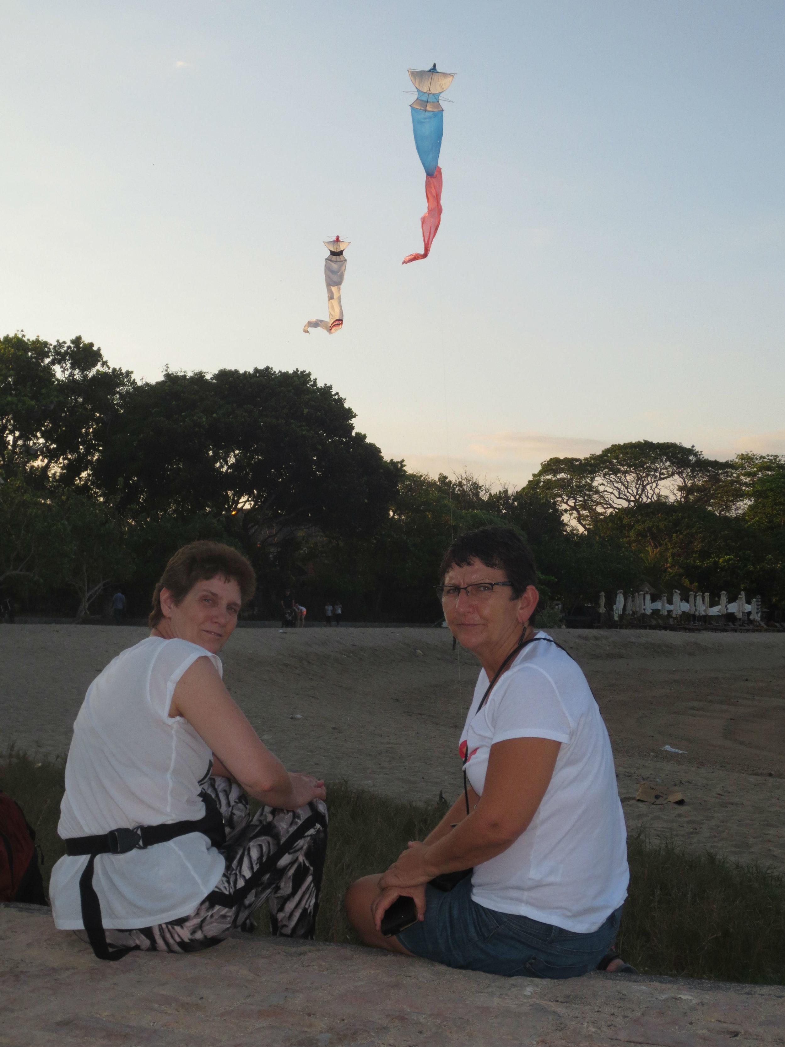 Kite flying on the beach