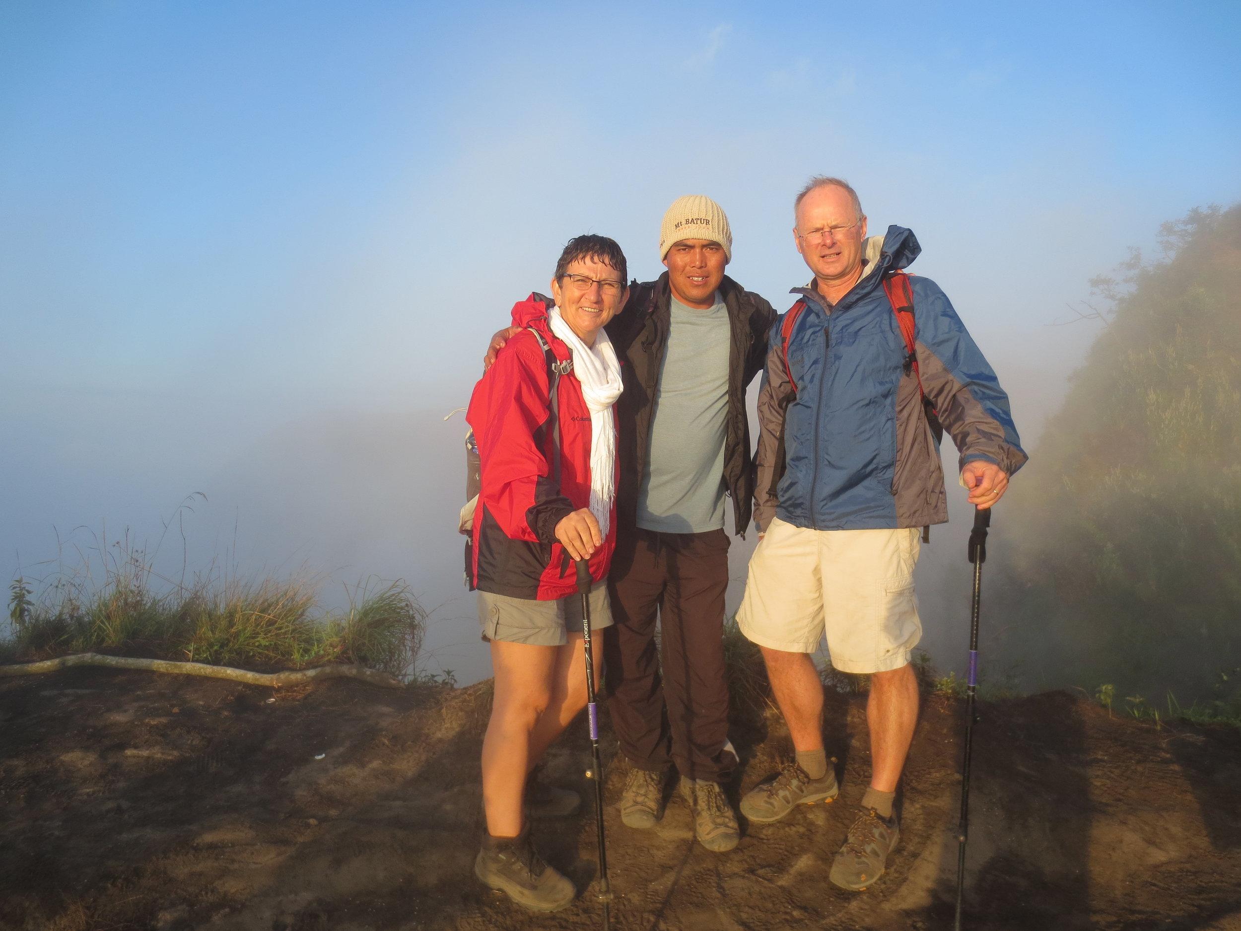On top of Gunung Batur, 1700 Mtr.