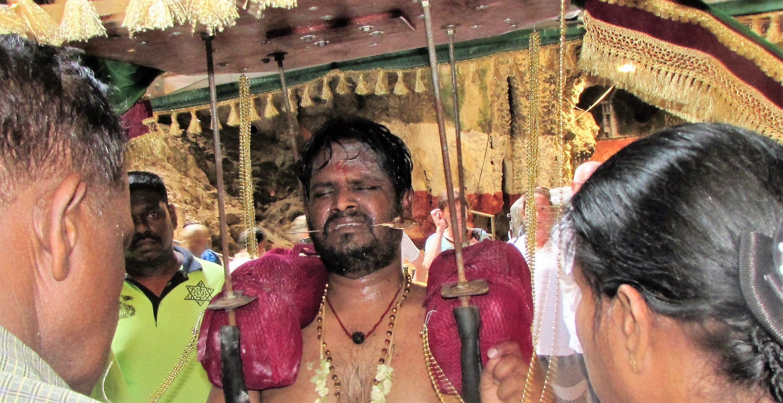 Kavadi bearer in trance