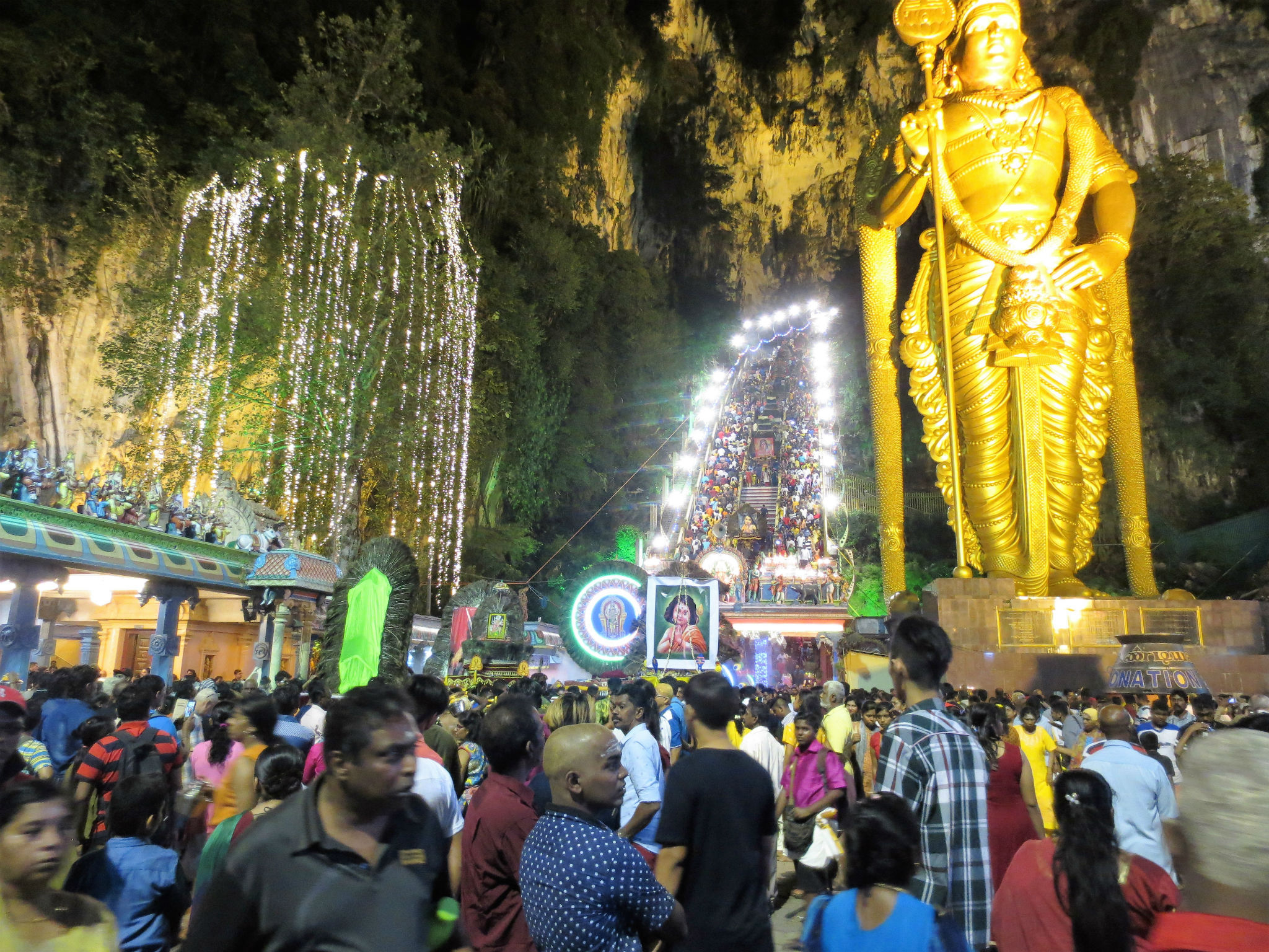 Lord Murugan statue inside Batu Caves