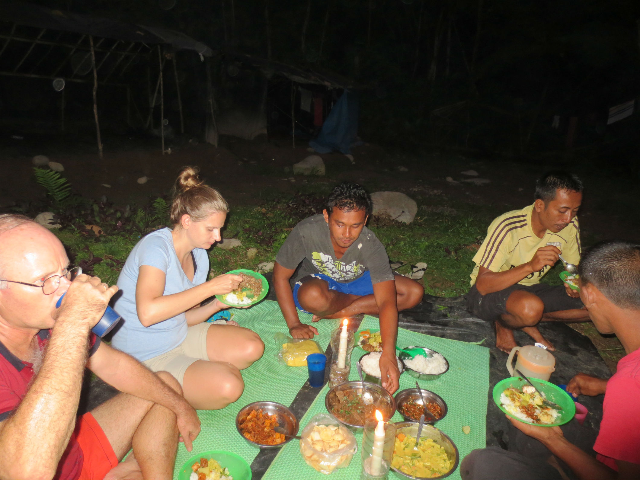 Dinner with our guides Kinol and Yadi