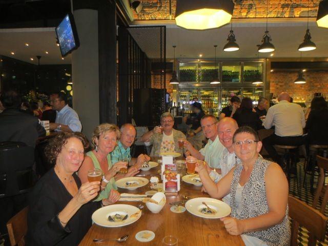 Baerbel, Irma, Frank, Jean-Jacques, Michael, Ludolf, Francien back in Kuala Lumpur