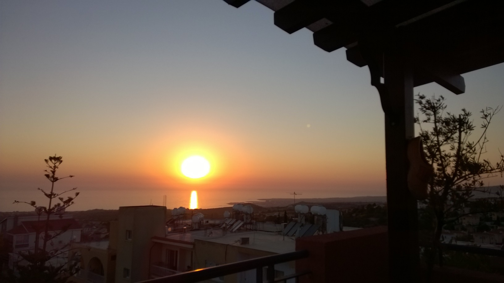 Sunset on our terrace