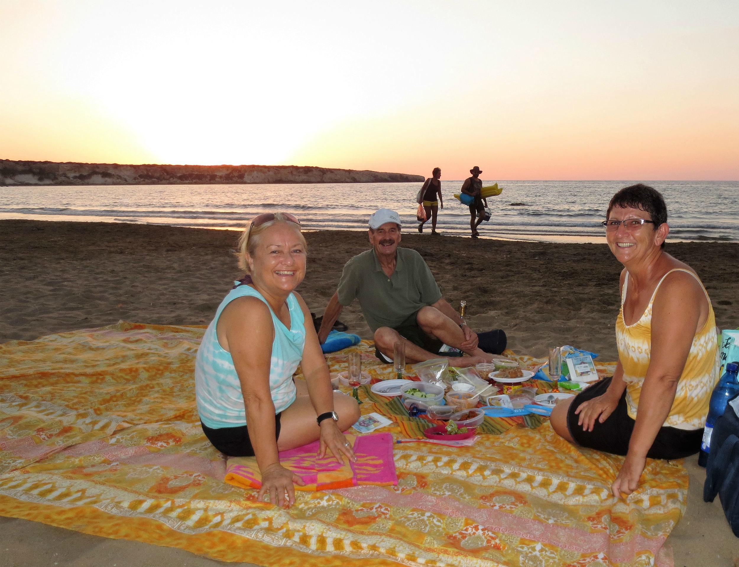 Sundowner on Lara Turtle Beach in Akamas National Park
