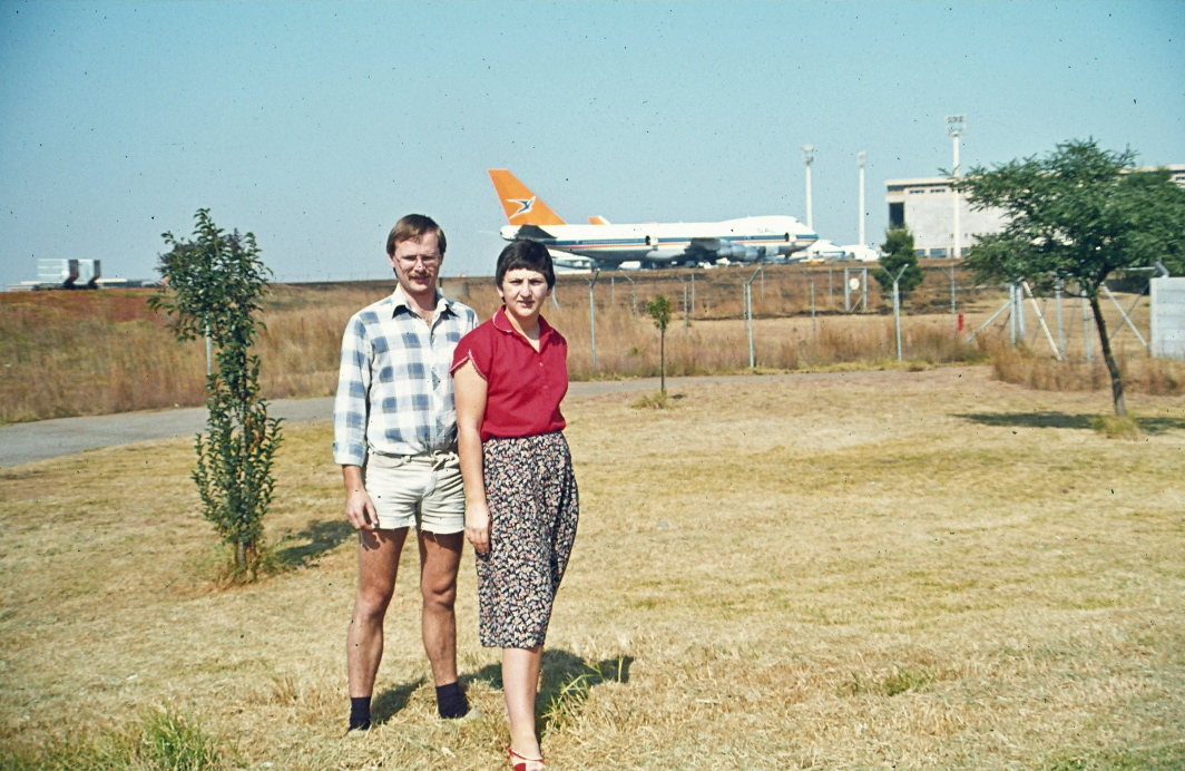 In front of 'Jan Smuts' Airport in Johannesburg in 1984