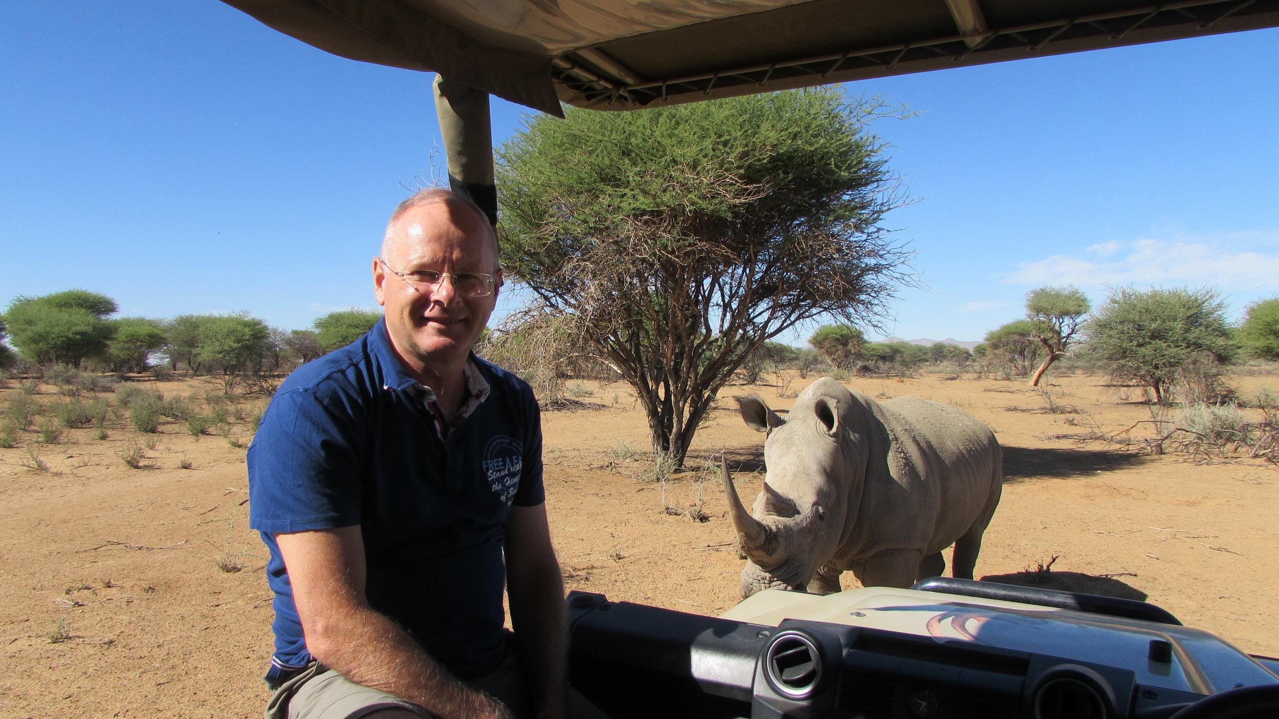Rhino sighting at Okupoku game farm