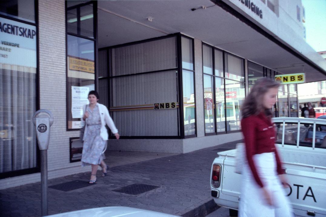 1982 - Francien walking to her work in Kempton Park