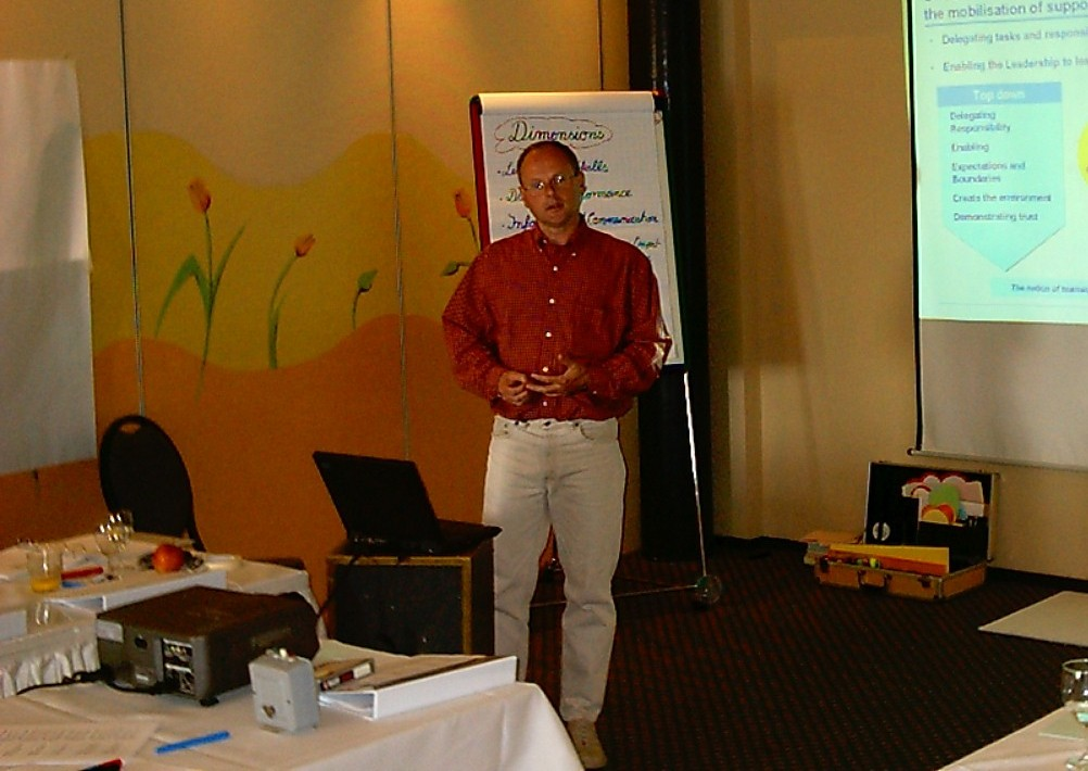 2002  Frank at work in Antwerp