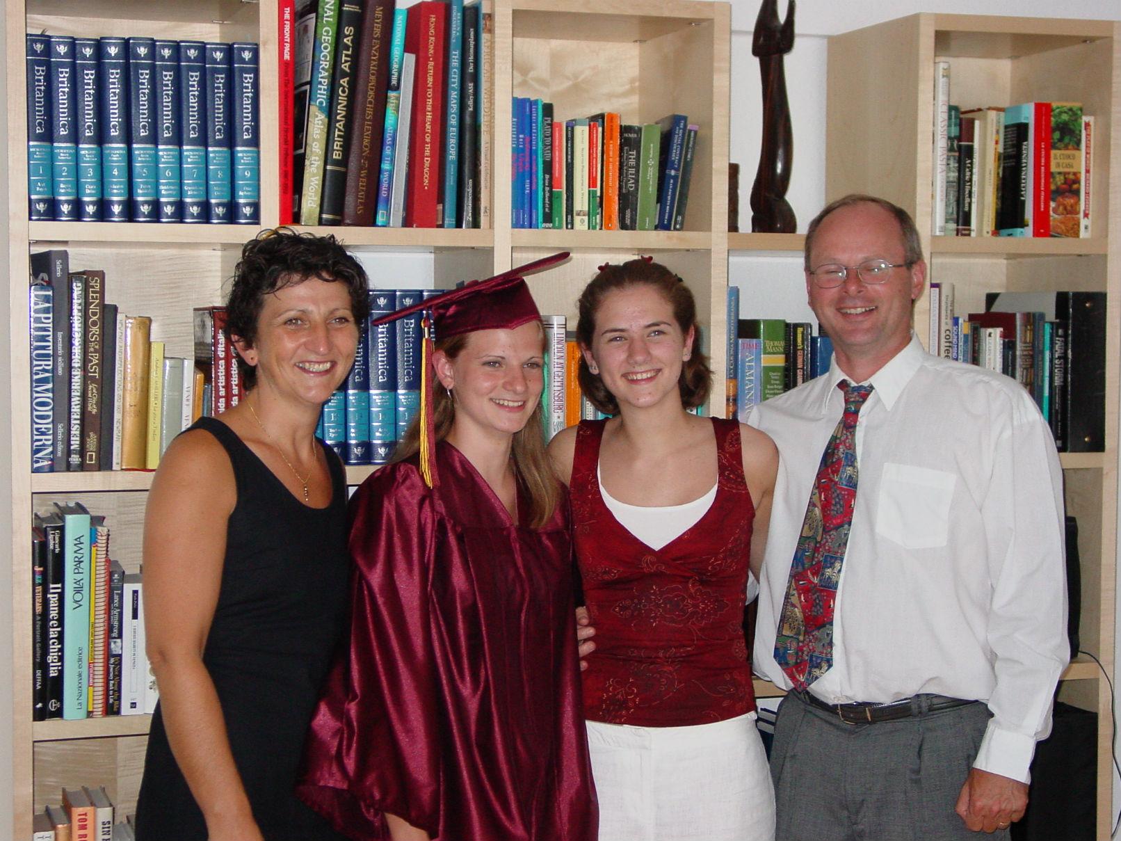 2003  Graduation at Frankfurt International School