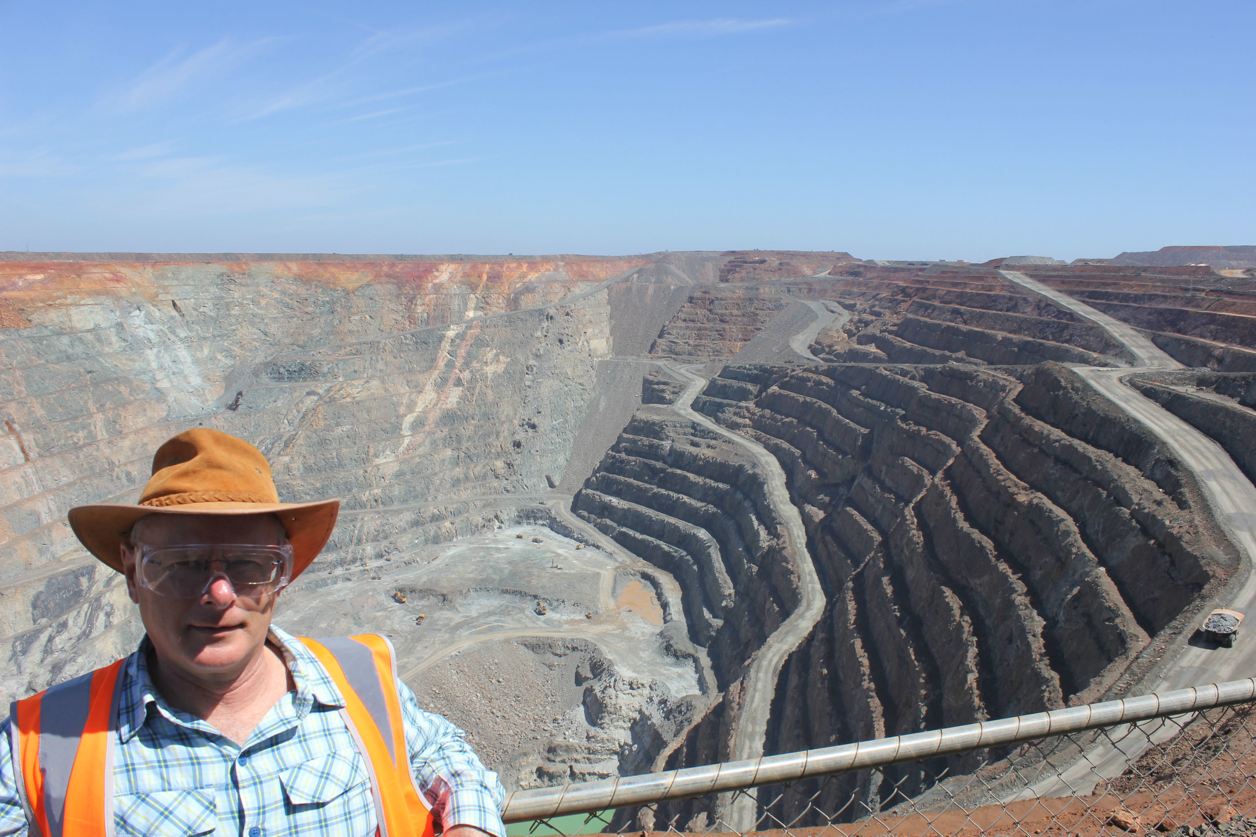 On the rim of the 'Super Pit'.