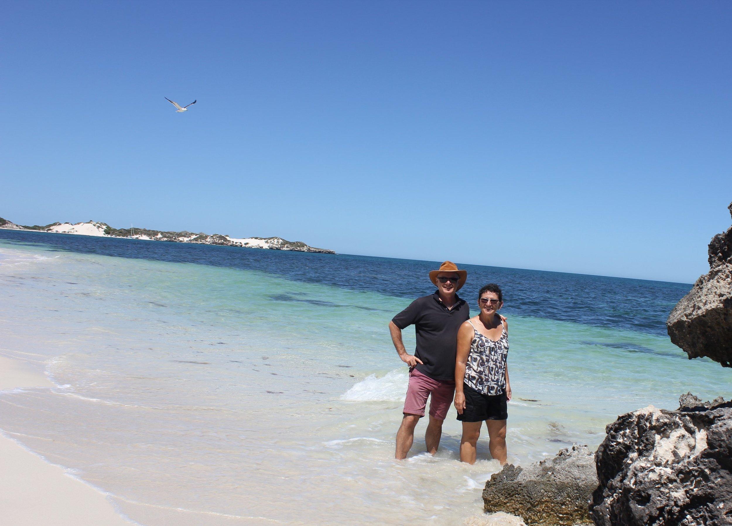 Enjoying the pristine Indian Ocean Beaches