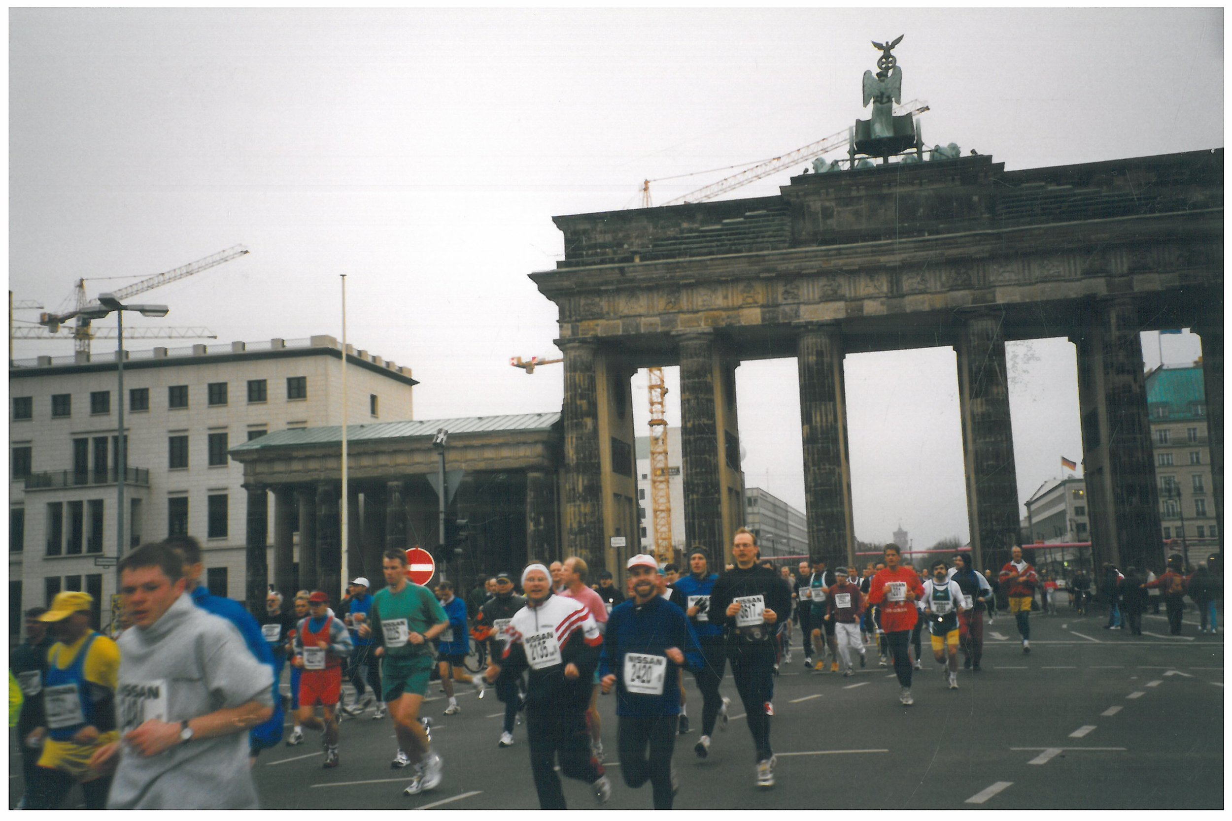 1999 Running through the Brandenburger Gate in Berlin