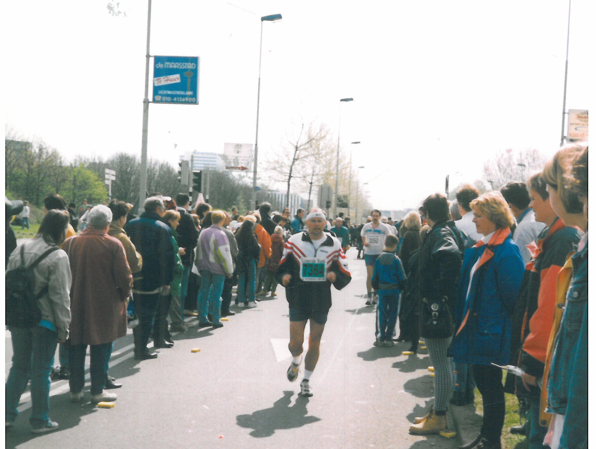1998 Rotterdam marathon half-way mark