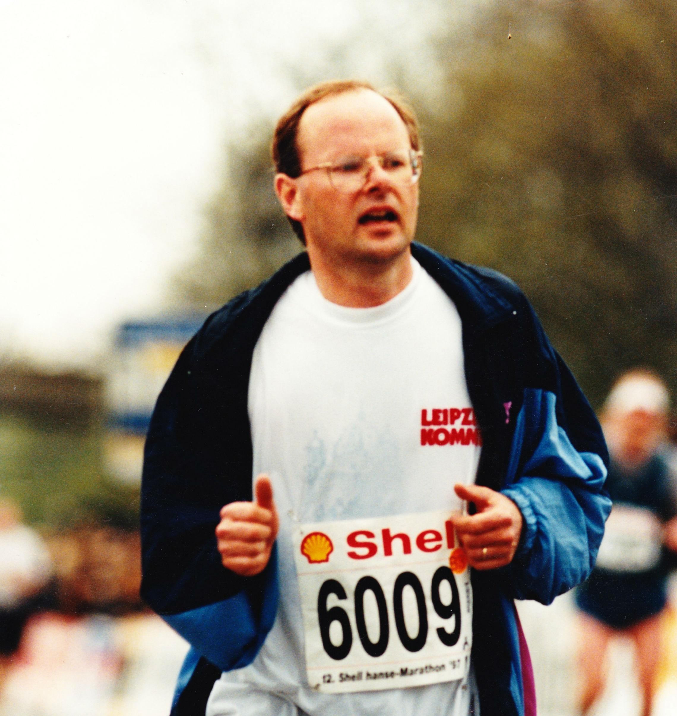1997 My first marathon in Hamburg, Germany
