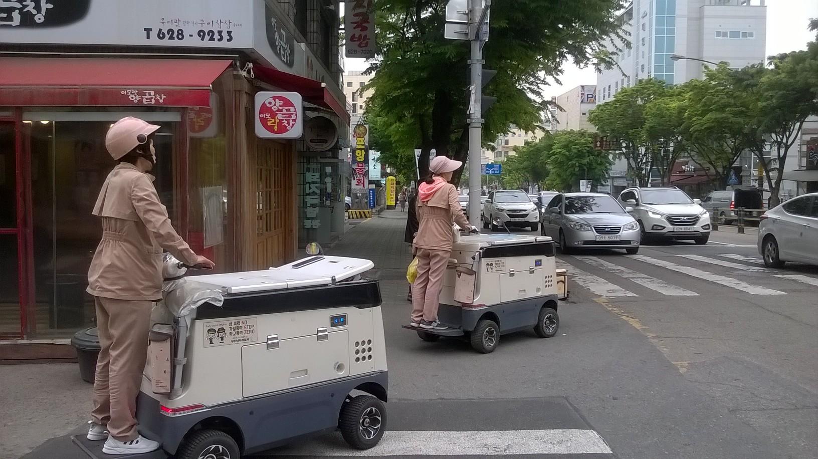 Women selling ice-creams