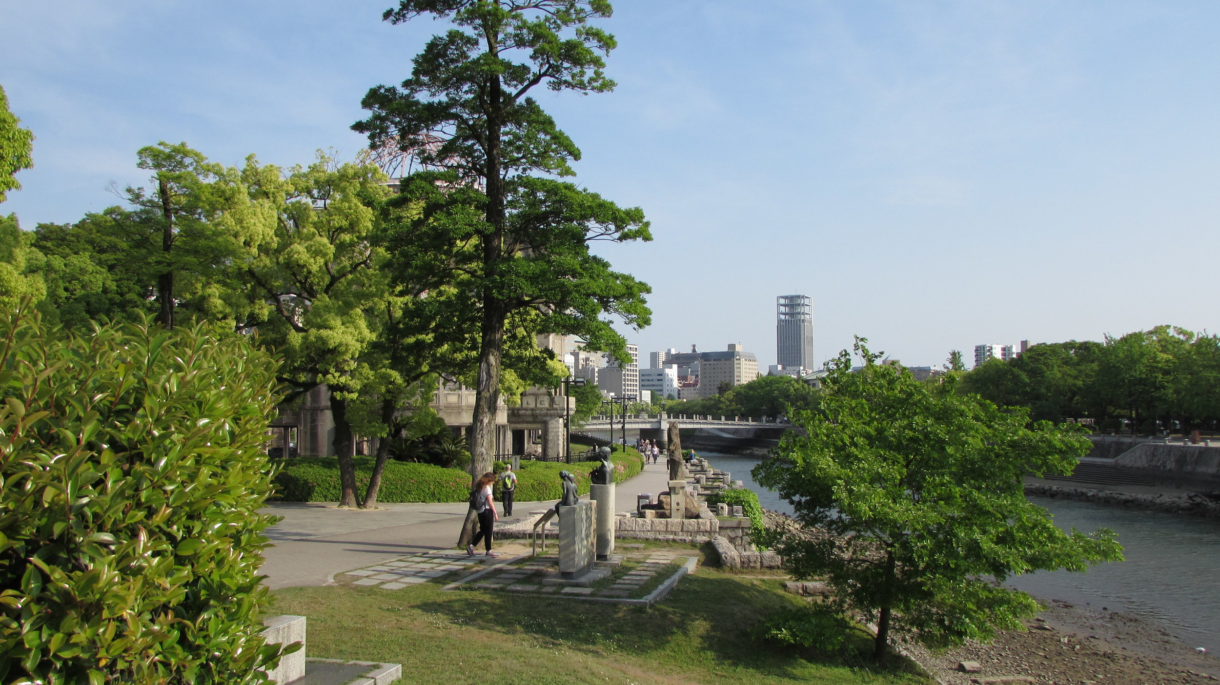 The river flowing past the atomic dome in Hiroshima