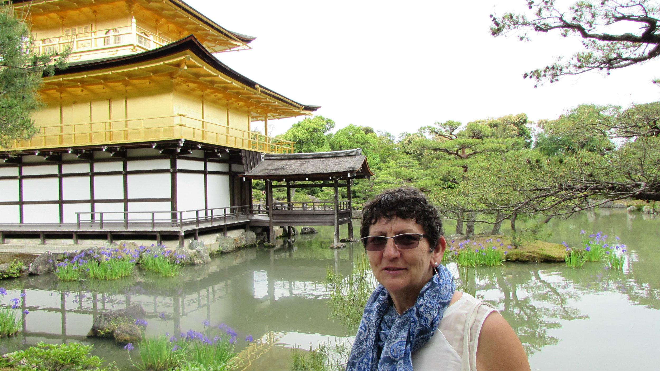 The golden paviljon in the Kinkaku Ji Temple in Kyoto