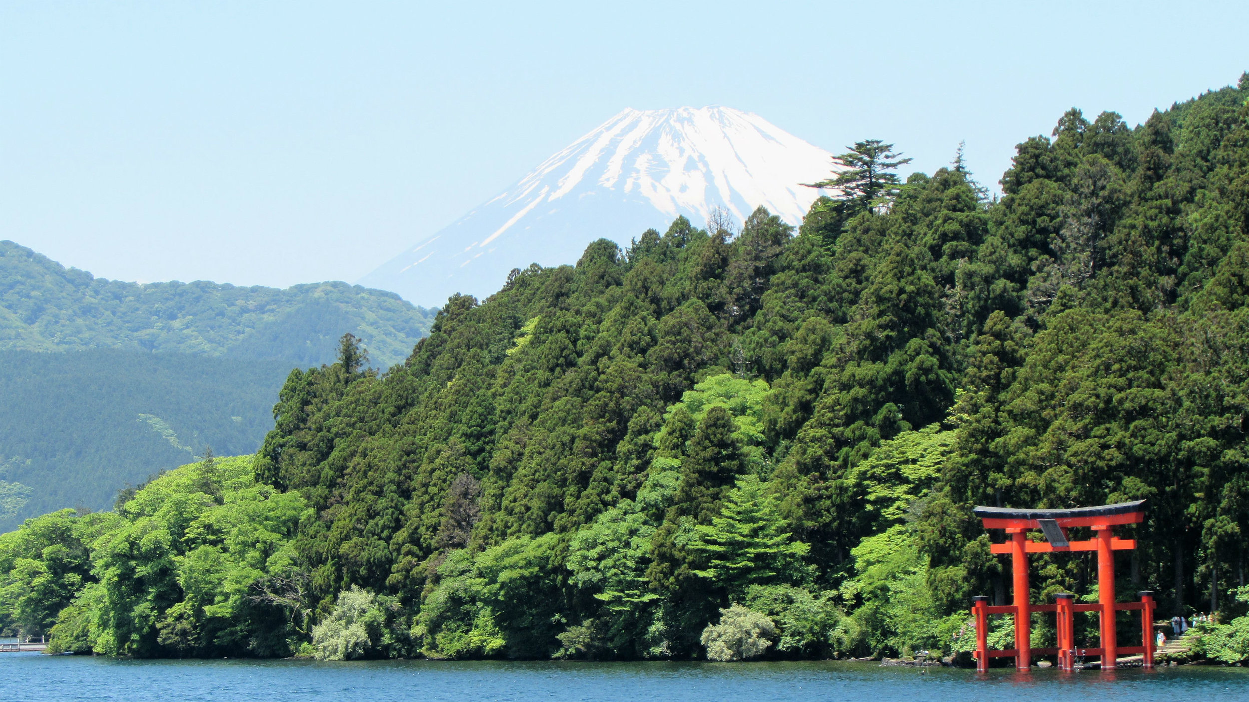 Lake Ashi with view of Mt. Fuji