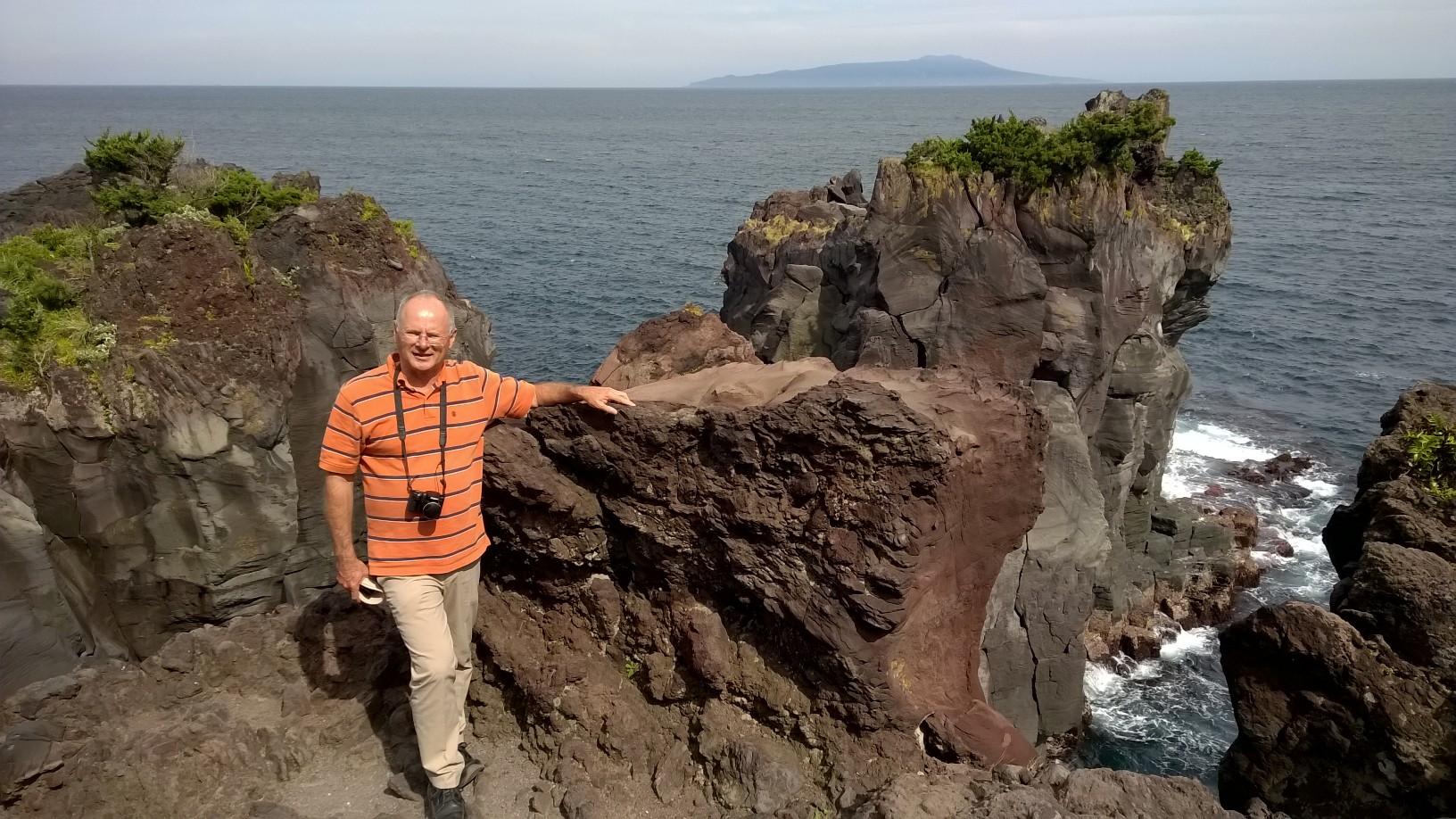 On the cliffs of the Jogasaki coast