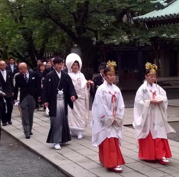 Wedding ceremony in Mishima