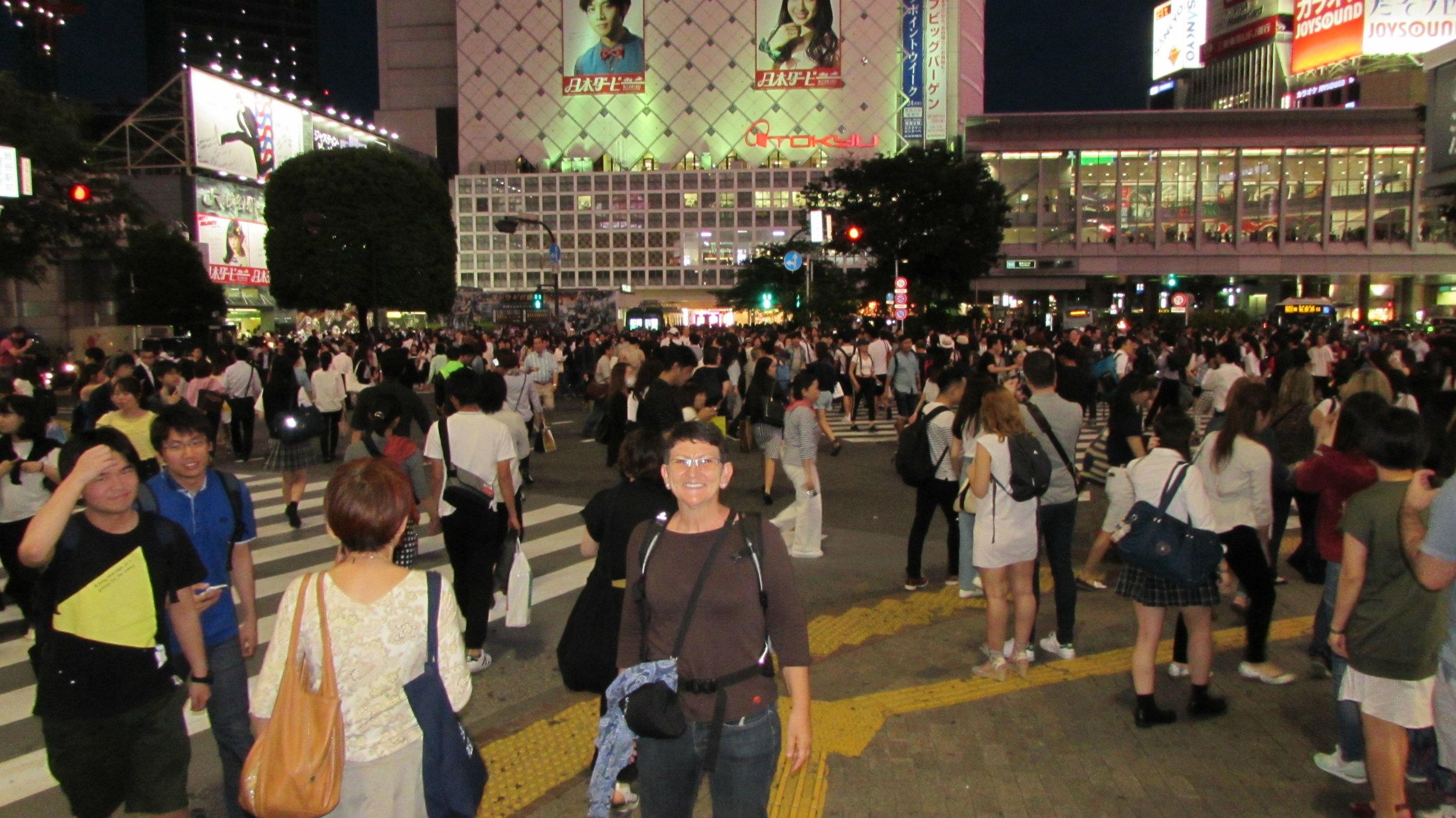 Shubija pedestrian crossing at night