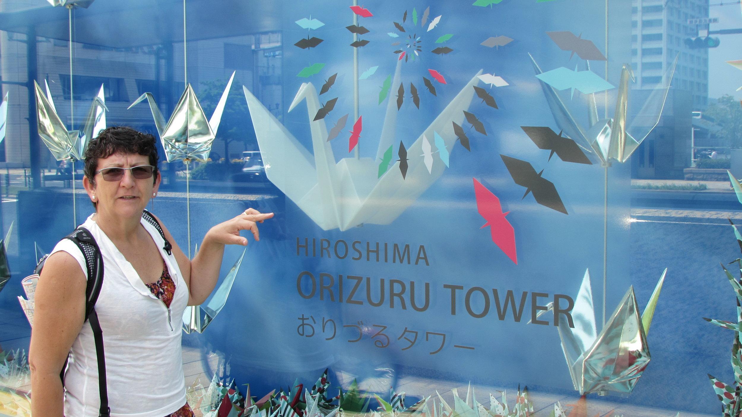 Origami birds symbolizing peace