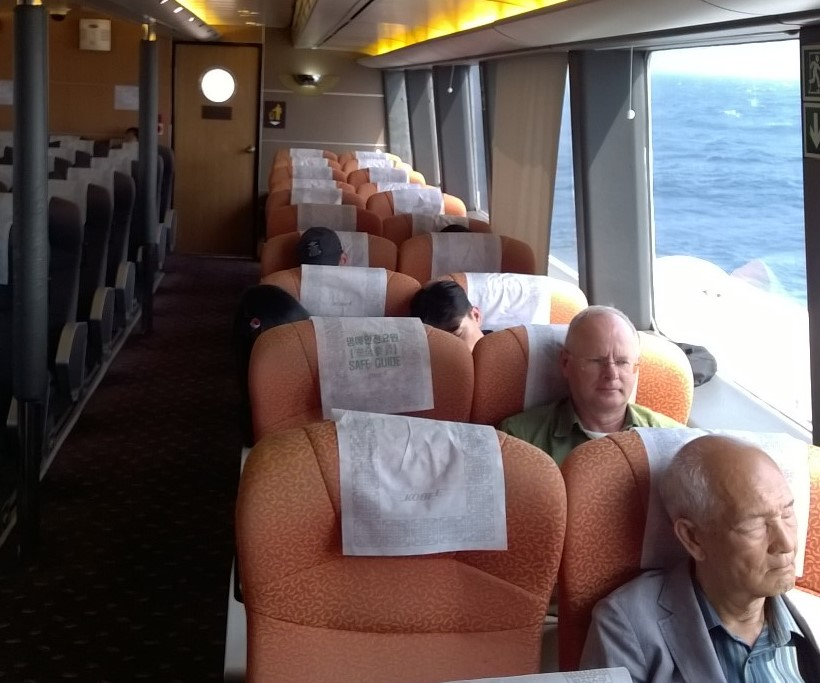 In the hydrofoil traveling to Japan