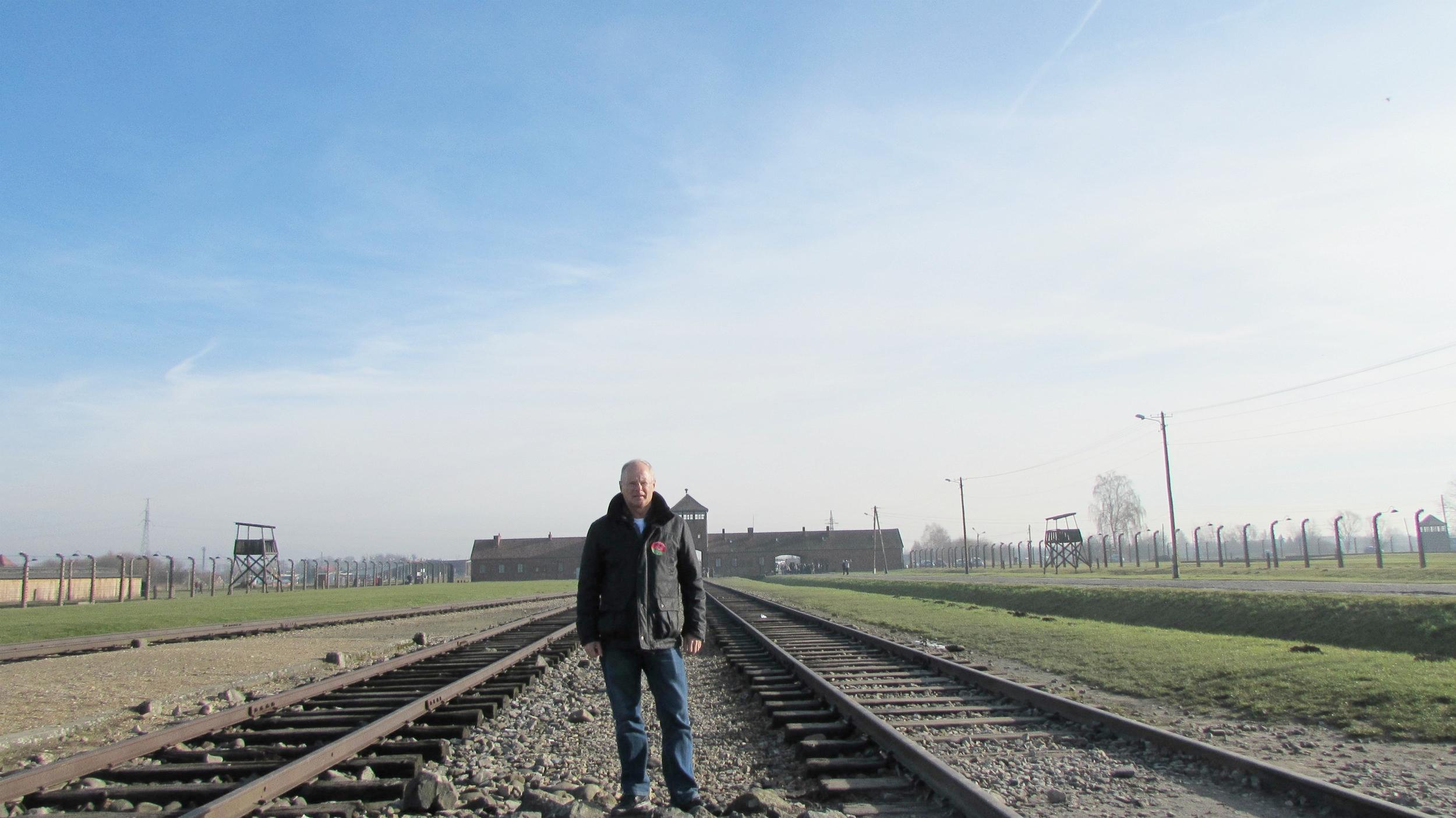 Rail tracks in Birkenau