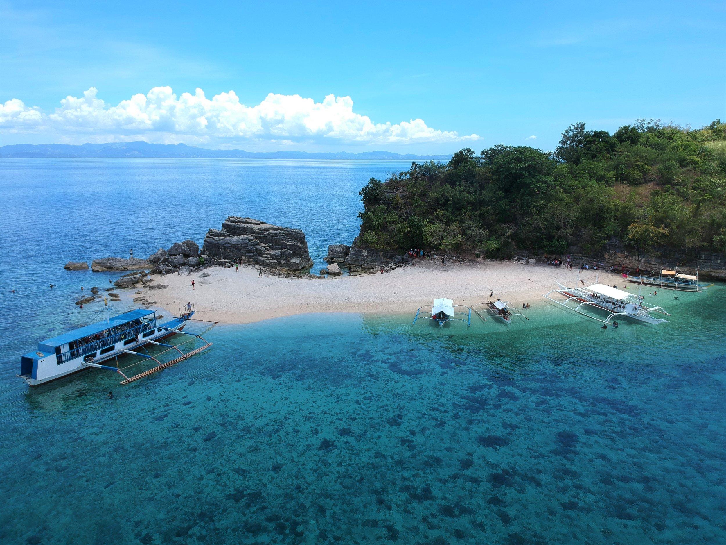 Resting on a remote island