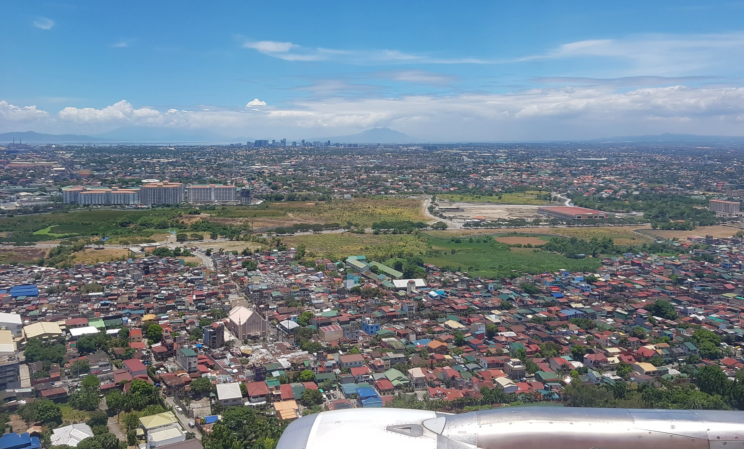 Approaching Manila International Airport