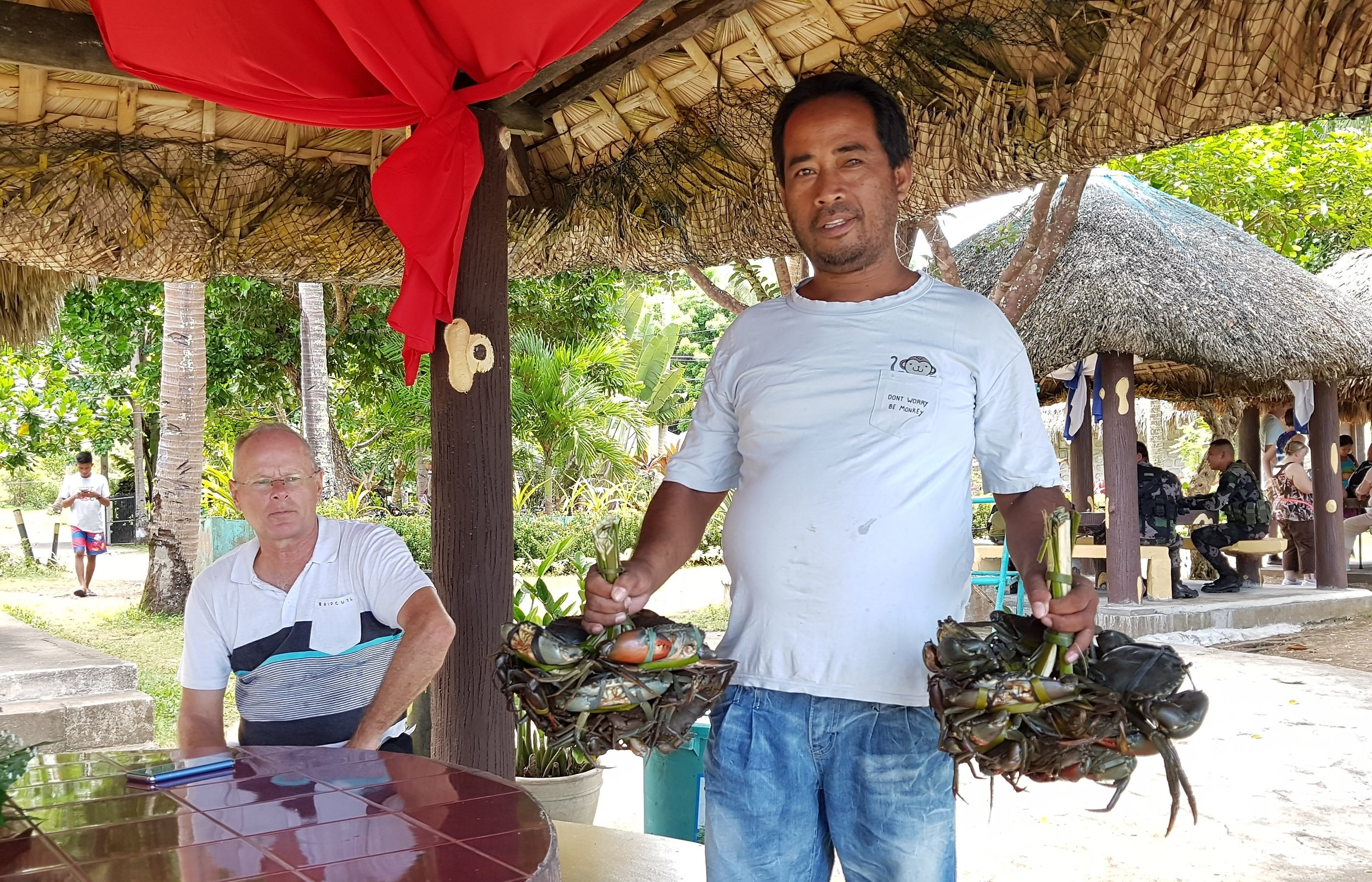 Selling crabs